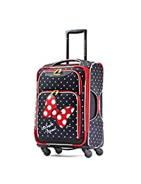 American Tourister Disney Minnie Mouse All Ages Soft Side Spinner, Minnie Mouse Red Bow, International Carry-on