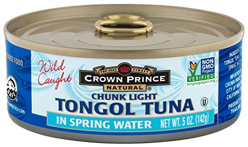 Lite Spring - Crown Prince Natural Chunk Light Tongol Tuna in Spring Water, 5 Ounce Cans (Pack of 12)