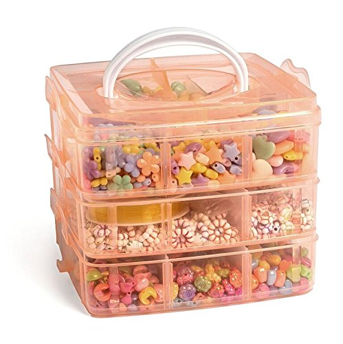 Ultimate Jewelry Making Bead Kit - Includes Storage Box and Over 1000 Beads - Perfect Gift for - Kids Bead Kits