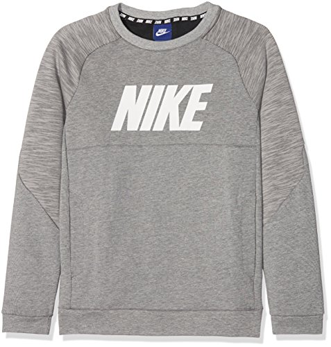 grigio bianco Nike Ls Nsw Scuro Enfant Av15 Crw Grigio Sweat B Scuro wwzPR