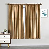SeeSaw Home Room Darkening Solid Thermal Insulated Pinch Pleat Window Panel Door Curtains/Draperies for Patio,Restaurant,Hotel,52W By 63L Inch,1 Panel,Wheat