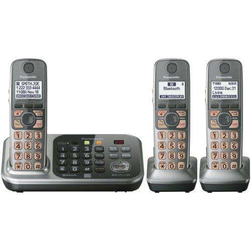 Panasonic KX-TG7743S Link2Cell Bluetooth Cellular Convergence Solution with 3 Handset