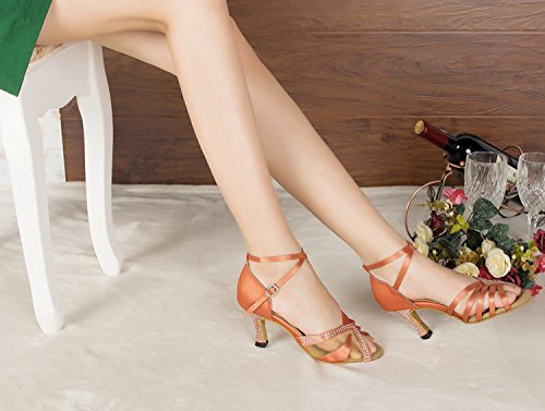 Miyoopark - salón mujer, color naranja, talla 35