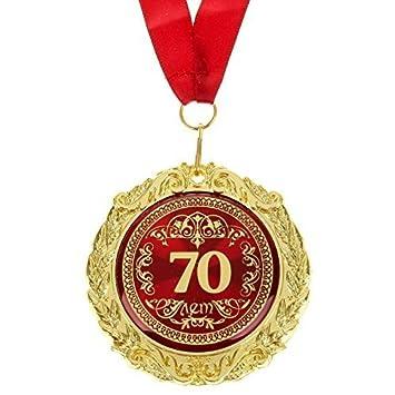 Gmmh Medaille In Geschenk Karte 70 Jahre 70 лет Russisch Jubiläum Geburtstag