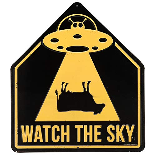 - Open Road Brands Aliens Watch The Sky Embossed Metal Sign