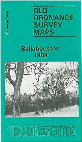 OLD ORDNANCE SURVEY MAP GLASGOW BELLAHOUSTON SCOTLAND 1909 Sheet 6.13 New