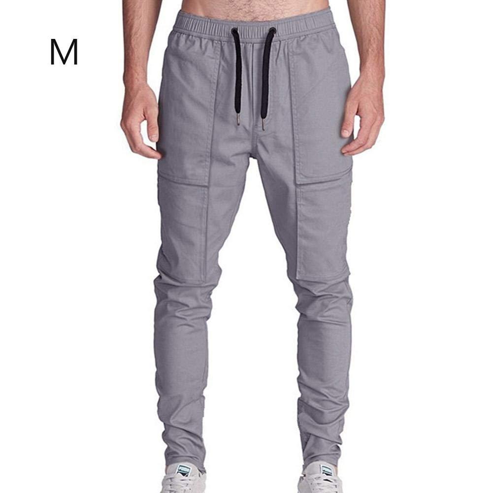 LiféUP Hombres Pantalones Harem Chino Moda Casual Algodón Pieza Tobillo Anillado Chino Pantalones Cargo Estilo Relajado Adelgazamiento Ajuste Suave Cómodo LiféUP