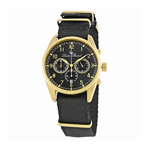 Chrono Lucien Piccard (Lucien Piccard Men's LP-10588N-YG-01 Moderna Analog Display Japanese Quartz Black Watch)