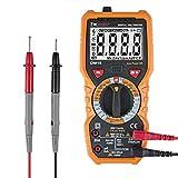 DMiotech Digital Multimeter DC AC Voltage Current Ohm Meter Resistance Capacitance Transistor Frequency Temperature Measurement Multi Tester LCD Backlight