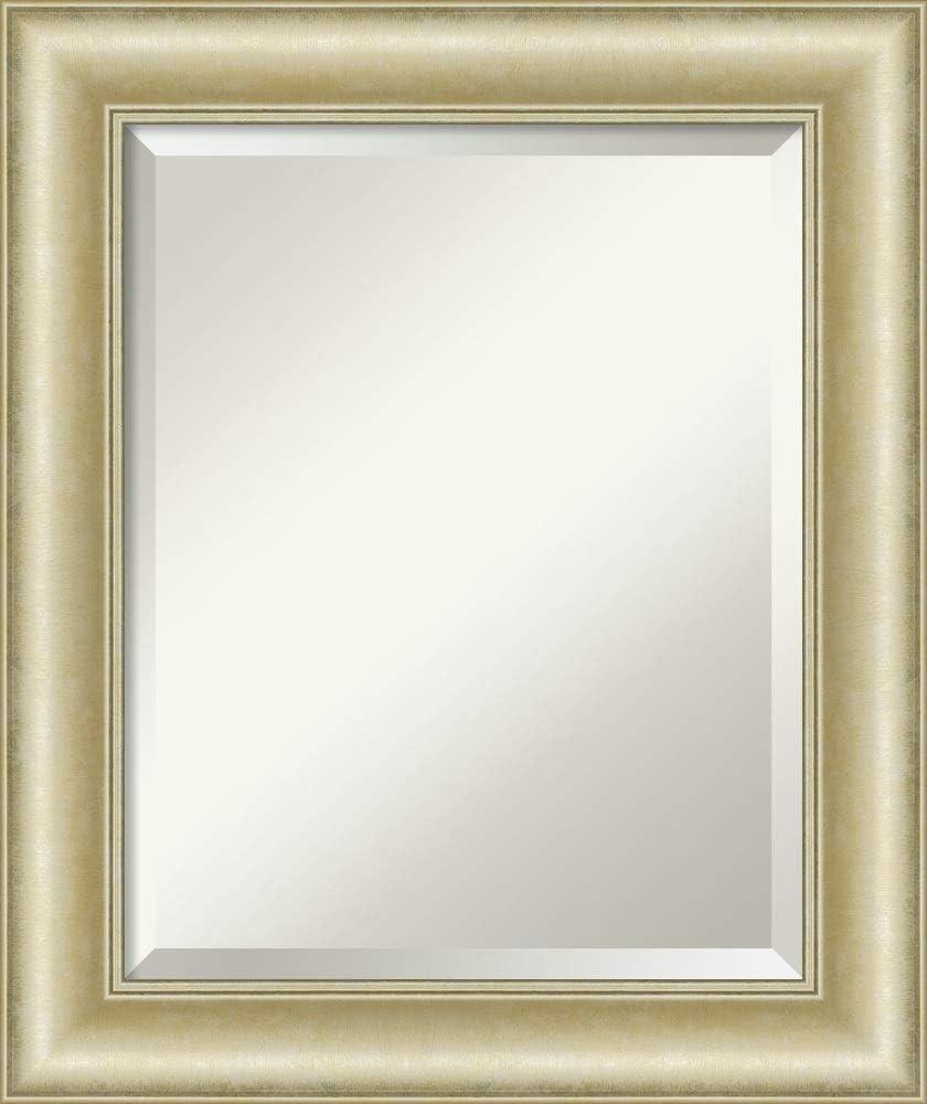 Amanti Art Vanity Bathroom Textured Light Gold Frame Wall Mounted Mirror Glass Size 16x20 Amazon Co Uk Kitchen Home