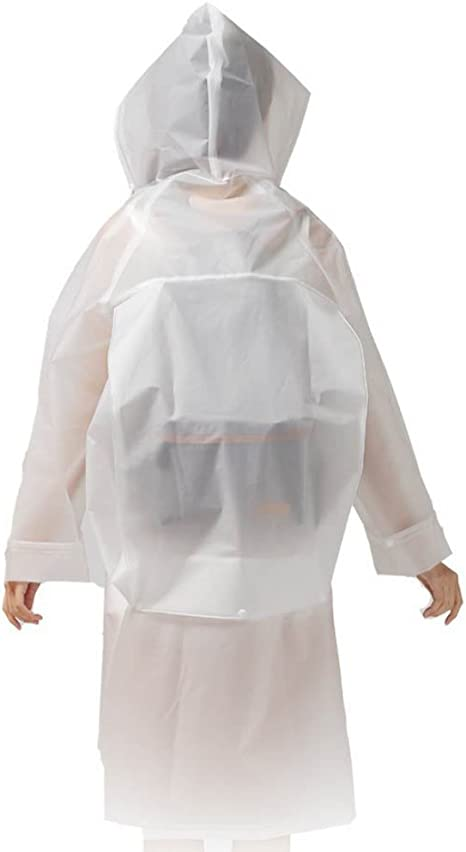 Imperm/éAble Poncho Vestes Anti-Pluie Respirant EVA Cape De Pluie Randonn/éE V/êTements De Pluie R/éUtilisable Et Pliable pour Adultes Unisexe Veste De Pluie avec Capuche