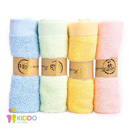 4 Pack Washcloths (Bamboo Baby Washcloths (4pack 11