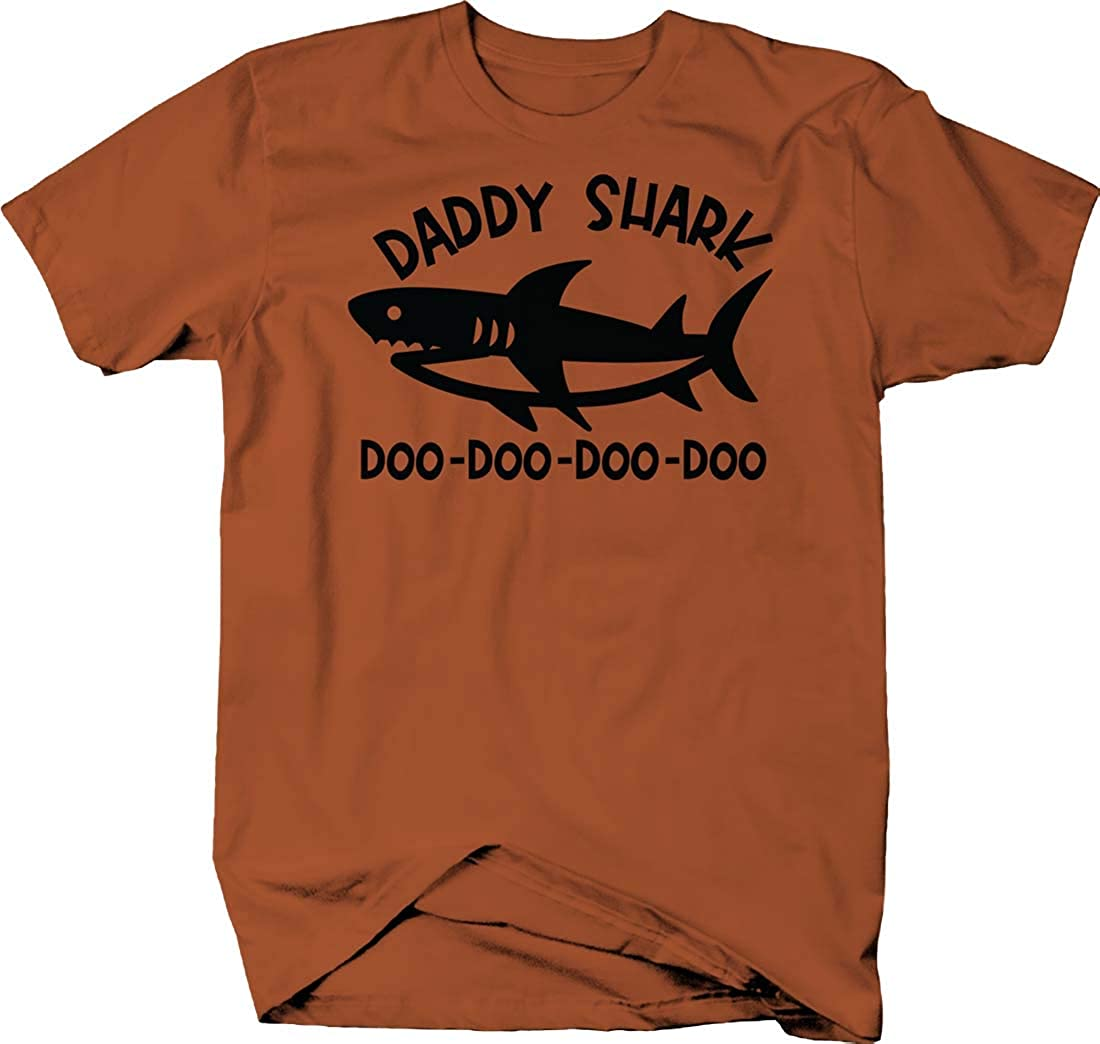 Daddy Shark doo doo doo doo Family caps dad Father Funny T Shirt for Men