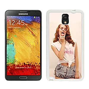 lana del rey For Samsung Note 3 White TPU Case Cover