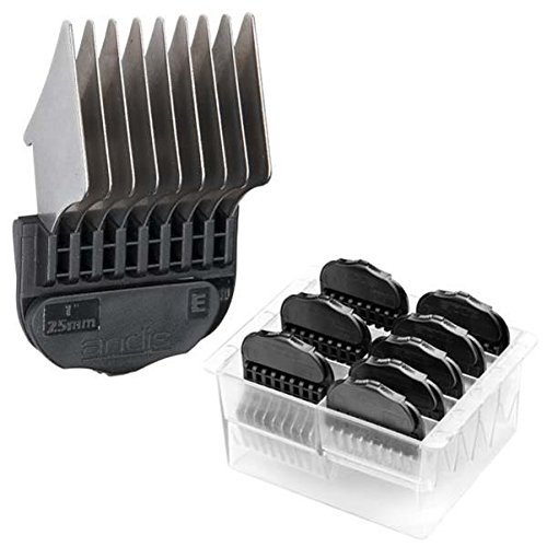Andis Stainless Steel Magnetic Comb Set Black