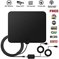 TV Antenna Digital Antenna Indoor HDTV Signal Amplifier HD Detachable 13ft Coaxial Cable High Reception 50 Miles Range Free Channel Antenna USB Power Supply Best Gift for Grandpa or Dad at Christmas