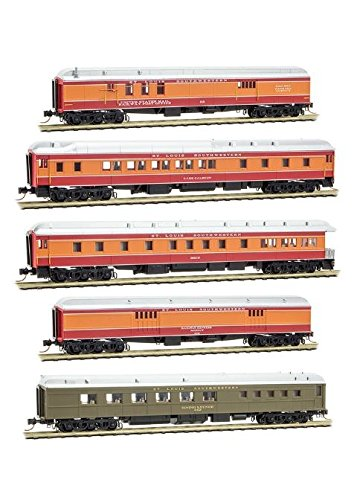Ssw Cotton Belt - Micro-Trains MTL N-Scale Cotton Belt/SSW Daylight Heavy Passenger Cars 5-Pack