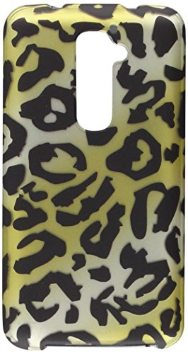 Zizo Rubberized Design Protective Cover for LG G2 - Retail Packaging - Cheetah Design