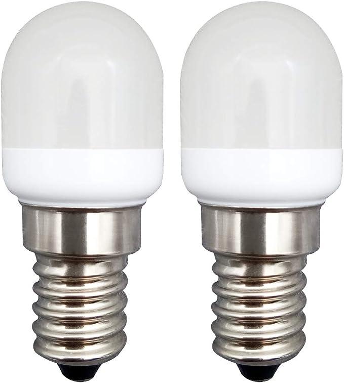 KingYH 2 Pieza LED Frigorifico Lámpara 2W E14 LED Bombilla ESE Blanco Frío 6000K 180LM Equivalente 20W Halógeno Regulable para Campana Extractora Máquina de Coser [Eficiencia Energética A++]: Amazon.es: Iluminación