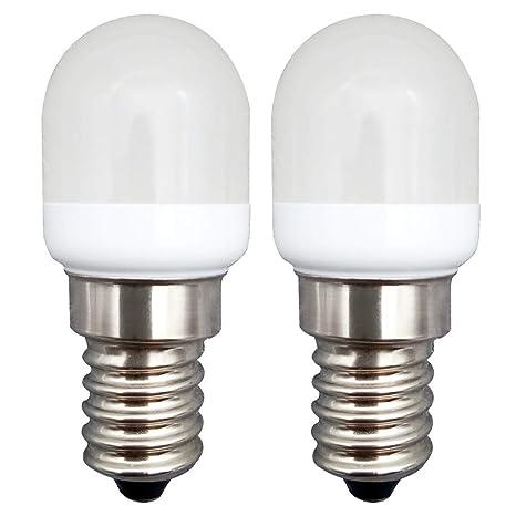 KingYH 2 Pieza LED Frigorifico Lámpara 2W E14 LED Bombilla ESE ...