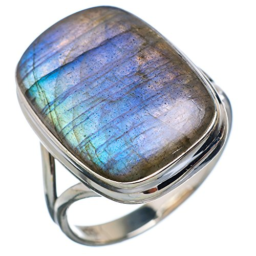 Ana Silver Co Large Labradorite 925 Sterling Silver Ring Size 12.75