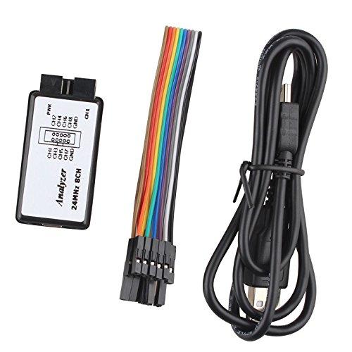 USB Logic Analyzer Device Set USB Cable 24MHz 8CH 24M Hz 8 Channel for ARM FPGA M100 SCM
