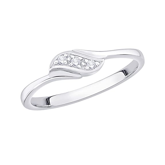 G-H,I2-I3 1//20 cttw, 3 Diamond Promise Ring in 14K Yellow Gold Size-8.75