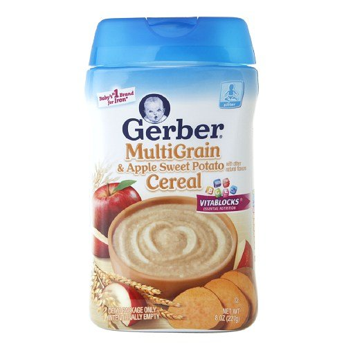 Gerber Multigrain Cereal, Apple & Sweet Potato 8 Oz (226.8 G) Pack of 2