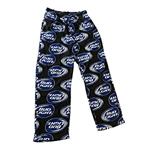 Bud Light Mens Fleece Lounge Sleep Pajama PJ Pants