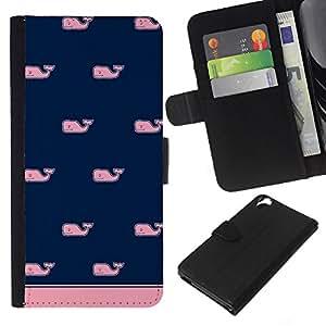 Modelo azul rosa minimalista Limpio- la tarjeta de Crédito Slots PU Funda de cuero Monedero caso cubierta de piel Para HTC Desire 820