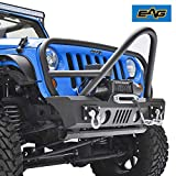 EAG Front Bumper Stinger with Fog Light Hole and Winch Plate Fit for 07-18 Jeep Wrangler JK Offroad