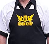 iron chef apron - Iron Chef Black Aprons For Food Network Fans, Black, One Size Fits Most