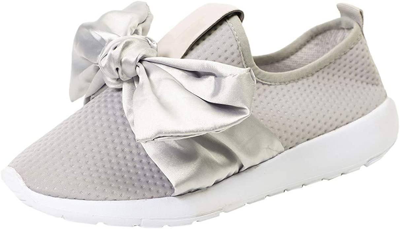 MRULIC Damen Outdoor Sportschuhe Mesh Bow Casual Schuhe