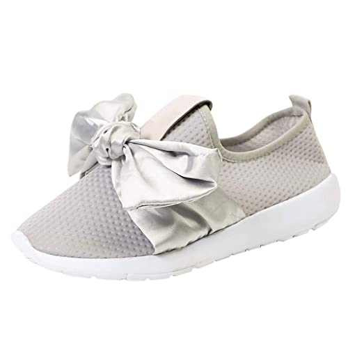 Amazon.com | Mysky Women Brief Breathable Mesh Outdoor Casual Sports Shoes Ladies Pure Color Bowknot Running Shoes Sneakers | Fashion Sneakers