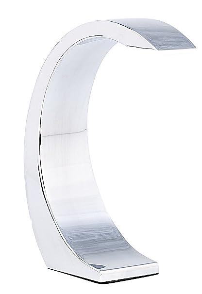 Lámpara led de Mesa de Lunartec:Lámpara de Mesa «Silver Moon» con Luces led de 5 V, lámpara de diseño con Interruptor de Sensor (Lámpara led para ...