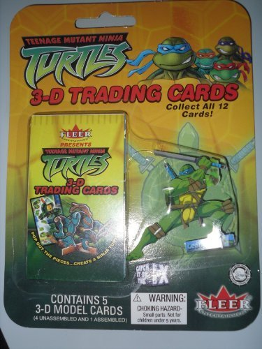 Teenage Mutant Ninja Turtles 3D Trading cards pack of 5 (one ...