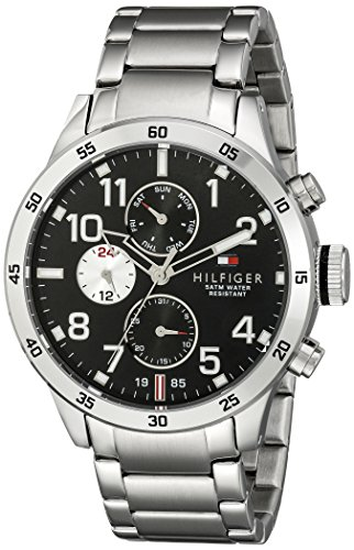 Watch Hilfiger Tommy Multifunction - Tommy Hilfiger Men's 1791141 Cool Sport Analog Display Quartz Silver Watch