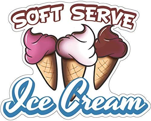 Food Truck Concession Vinyl Sticker Ice Cream Treats DECAL Choose Your Size