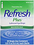 Refresh Plus Lubricant Eye Drops, 30 containers