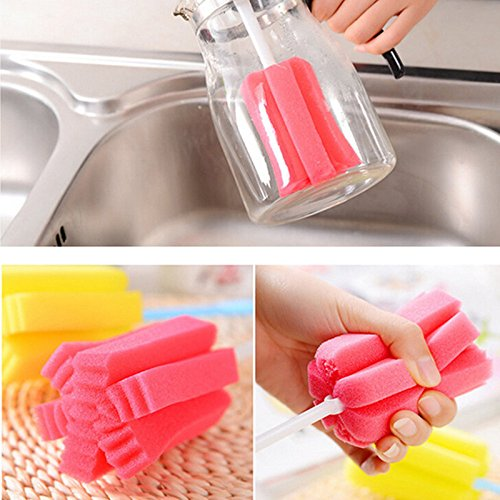 Gotian Kitchen Cleaning Tool Sponge Brush for Wineglass Bottle Coffe Tea Glass Cup- Multifunction Cleaning Brush Dish Washing Brush - Pot, Bowl, Dish Brush (25cm/9.84'')
