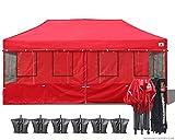 ABCCANOPY Food Vendor Canopy 10×20 Food Vendor Booths Bonus 6x Weight Bag (Red) Review