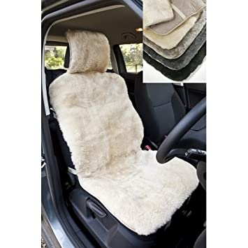 Lambland Genuine Full Sheepskin Universal Car Seat Cover in Dark Grey