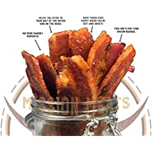 Delicious Uncured Real Bacon Jerky Hand Crafted Small Batch Kickin' Sriracha MSG Free Nitrate & Nitrite Free (Kickin' Sriracha, 1 pack)