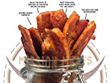 Delicious Uncured Real Bacon Jerky Hand Crafted Small Batch Kickin  Sriracha MSG Free Nitrate & Nitrite Free (Kickin  Sriracha, 3 pack)