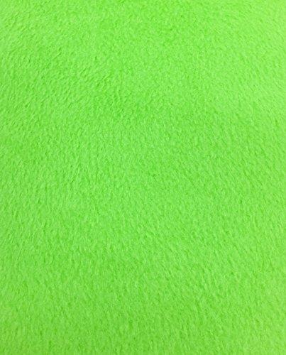 4 Yard Bolt Anti Pill Lime Green Fleece Polyester Fabric