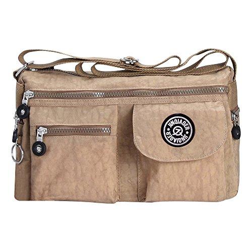 Messenger Bag Shoulder Cross Khaki Ladies Body Vintage Handbag Women Wocharm Purse Tote Bag qwzSStI8
