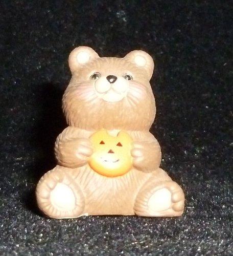 Hallmark Merry Miniature Halloween Teddy Bear with Pumpkin Cookie Figurine -