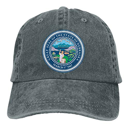 2 Pack State Seal of Nebraska Adjustable Washed Twill Baseball Cap Hat for Women and Men Deep Heather]()