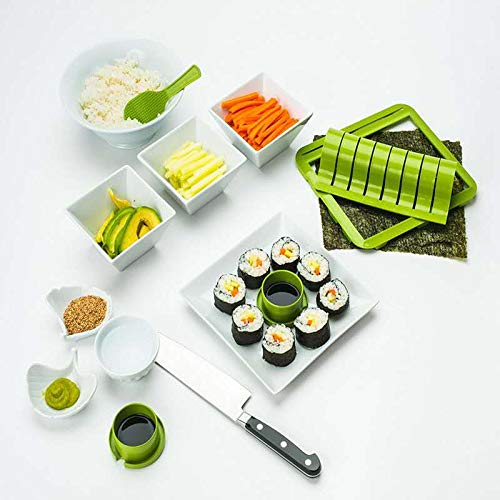 Super Easy Sushi Making Kits Homemade Sushi Tools Sushi Rolling Mat Sushi Form Rolls Slicer Rice Paddle