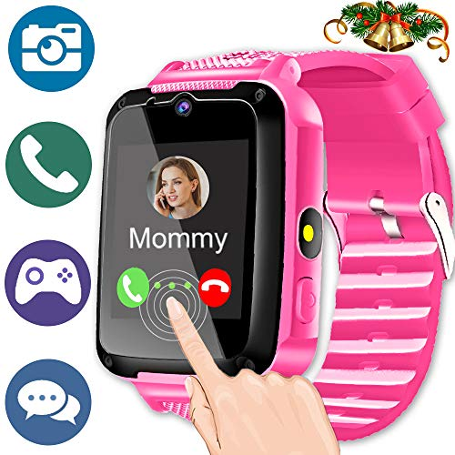 Kids Smart Phone Watch for 3-14 Year Girls Boys Toddler 2 Way Call SOS 1.54'' HD Touch Screen Camera Math Game Flashlight Digital Gizmo Learning Cellphone Wrist Watch for Christmas Birthday Holiday